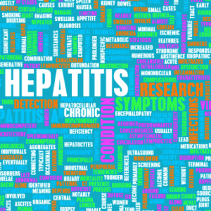 Graphic with Multiple Hepatitis Symptoms Listed