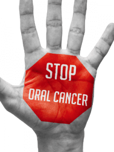 Stop Oral Cancer Sign on Hand